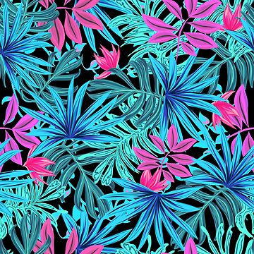 Palm Springs Neon Party Pattern by crazycanonmom