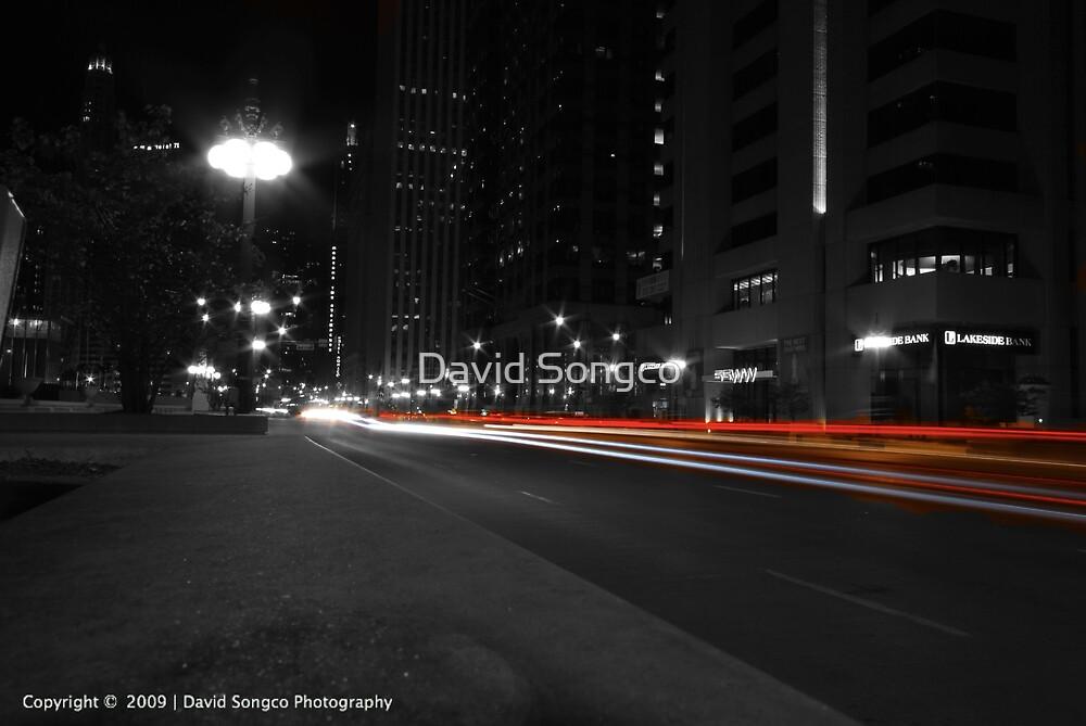 Wacker Drive at Night by David Songco