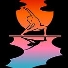 Stand up paddle board yoga by piedaydesigns