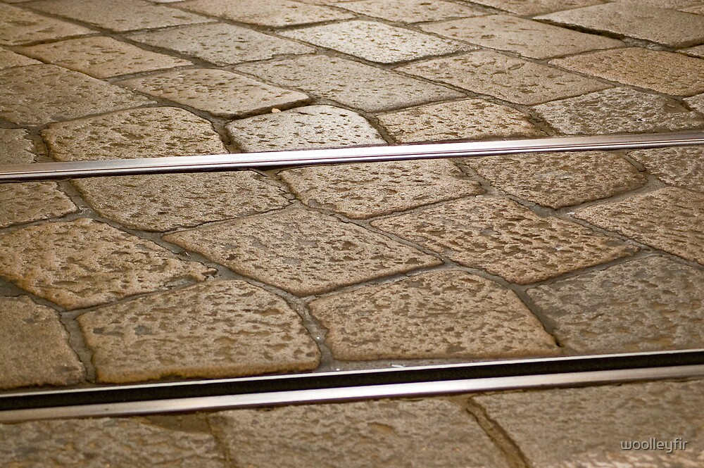 Tramlines and cobbles by woolleyfir
