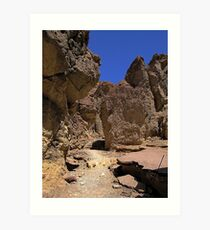 Golden Canyon - remains of a paved road Art Print