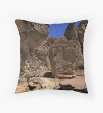 Golden Canyon - remains of a paved road Throw Pillow