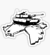 who needs peace! Sticker