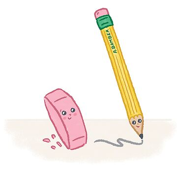Pencil and Eraser - Illustrated by Adrianna Bamber by abamber