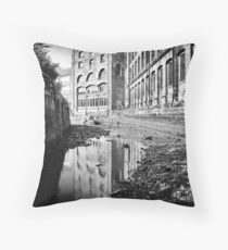 Remains of the tide and industry Throw Pillow