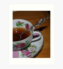 Vintage cup and saucer Art Print