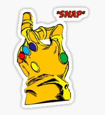 SNAP THANOS INFINITY WAR infinity gauntlet Sticker