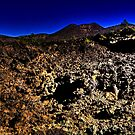 Bonito Lava Flow with Sunset Crater by Roger Passman