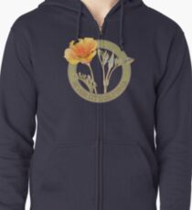 Nevada City Poppy Zipped Hoodie