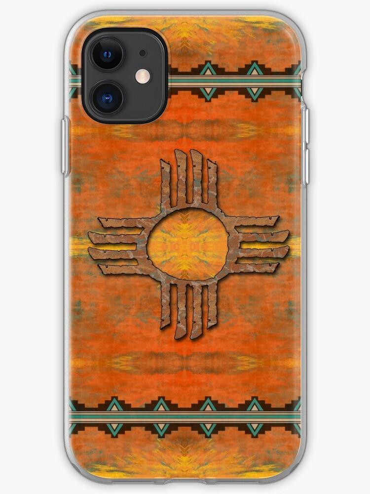 Zia Sun Zia Pueblo New Mexico iphone case