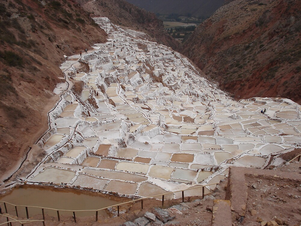 Salineras - salt pans near Maras, Peru by Rena77uk