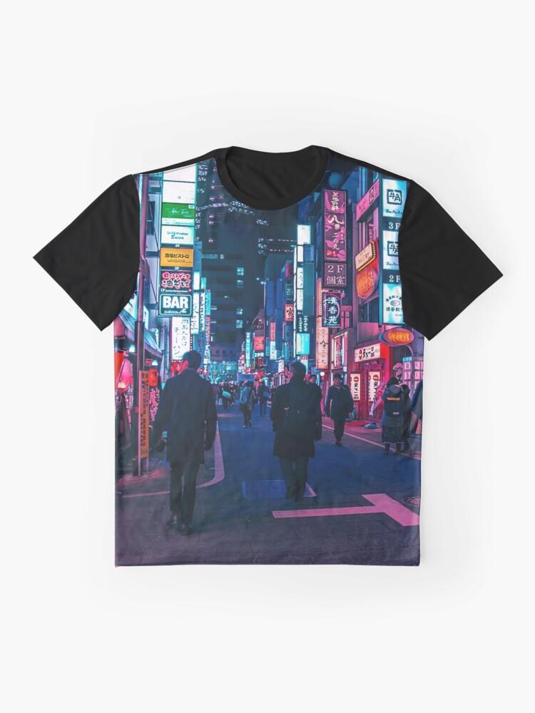 Alternative Ansicht von Machen Sie einen Spaziergang unter dem Neon Grafik T-Shirt