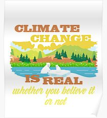 Climate Change Funny Drawing Posters Redbubble