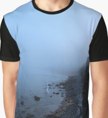 Fog Settling over Ingonish Beach Graphic T-Shirt