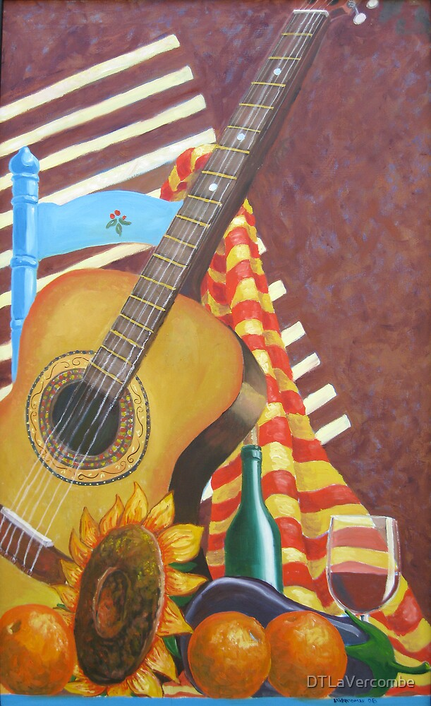 Guitar and Oranges by DTLaVercombe
