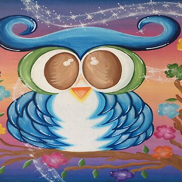 BLUE LOVE OWL by sonya1968