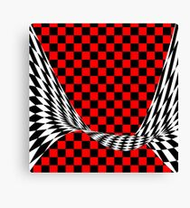 black red white Canvas Print