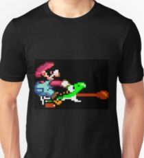 Mario punches Yoshi Unisex T-Shirt