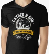 Father And Son Hunting Partners For Life Father's Day Shirt Men's V-Neck T-Shirt