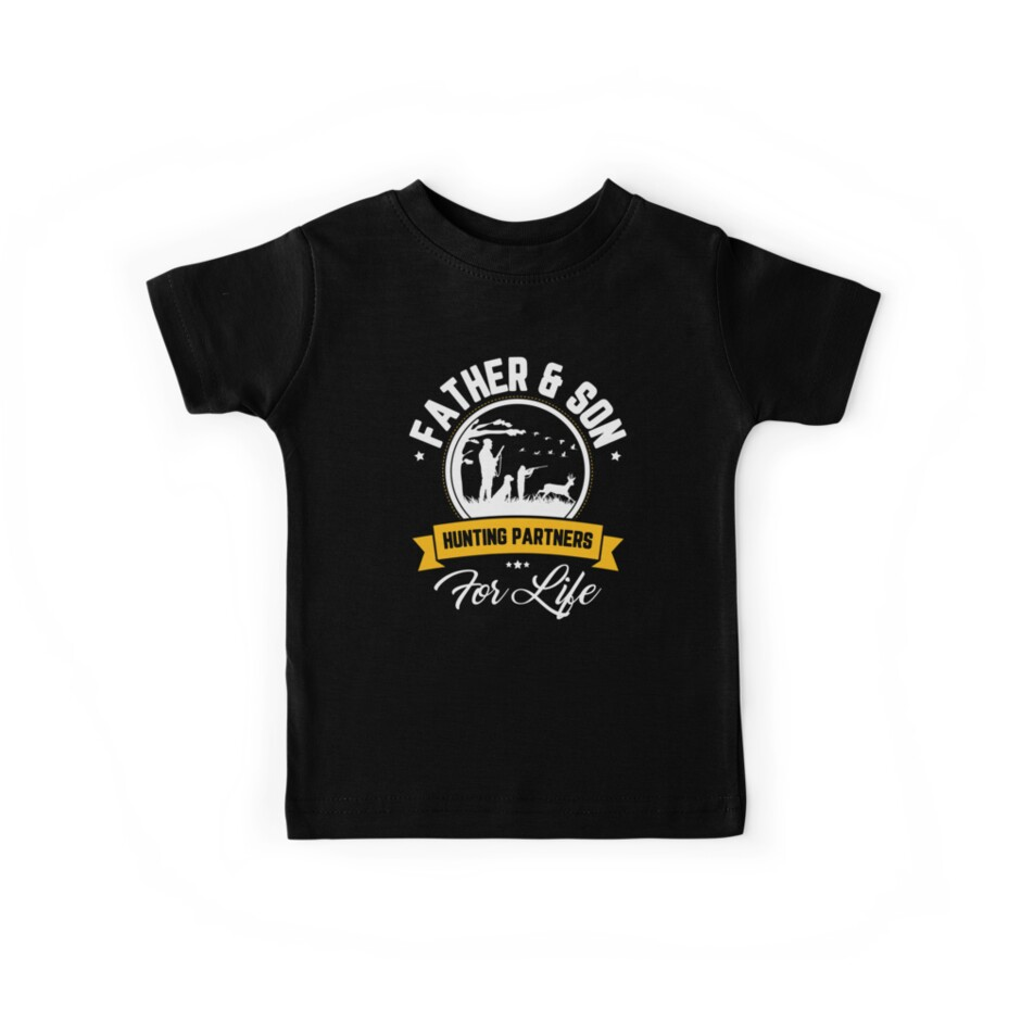 74818e64 Father And Son Hunting Partners For Life Father's Day Shirt