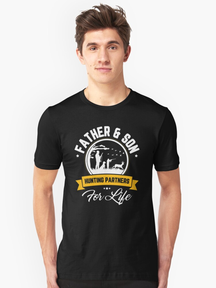9cc19f28 Father And Son Hunting Partners For Life Father's Day Shirt Slim Fit T-Shirt