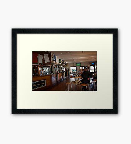 the top bar Framed Print