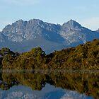 Western Arthurs from Lake Peddar by Richard  Stanley
