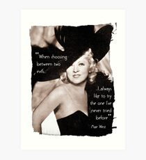 Mae West - Try the evil I've never tried before (Amazing People) Art Print