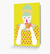a cup of tea a day Greeting Card