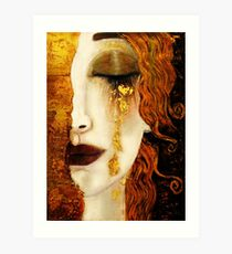 Klimt Golden Tears Art Print