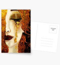 Klimt Golden Tränen Postkarten