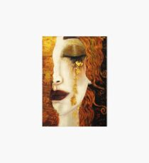 Klimt Golden Tears Art Board