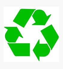 Leonard's Other Recycling Symbol Photographic Print