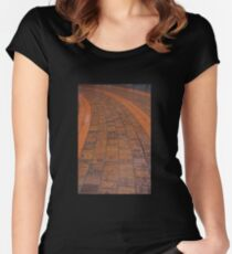 Brick Footpath, Melbourne Women's Fitted Scoop T-Shirt