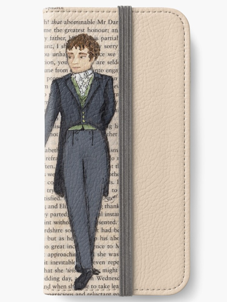 new products faad2 6eeec 'Elizabeth Bennet and Mr Darcy' iPhone Wallet by Jess Purser