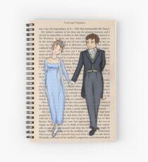 Elizabeth Bennet and Mr Darcy Spiral Notebook