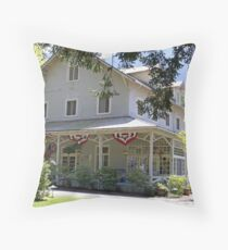 """Lake Crescent Lodge"" Throw Pillow"