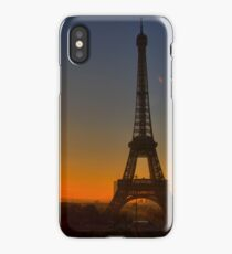 Eiffel Tower at sunset iPhone Case/Skin
