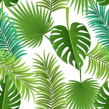 Tropical palm leaf pattern by creaschon