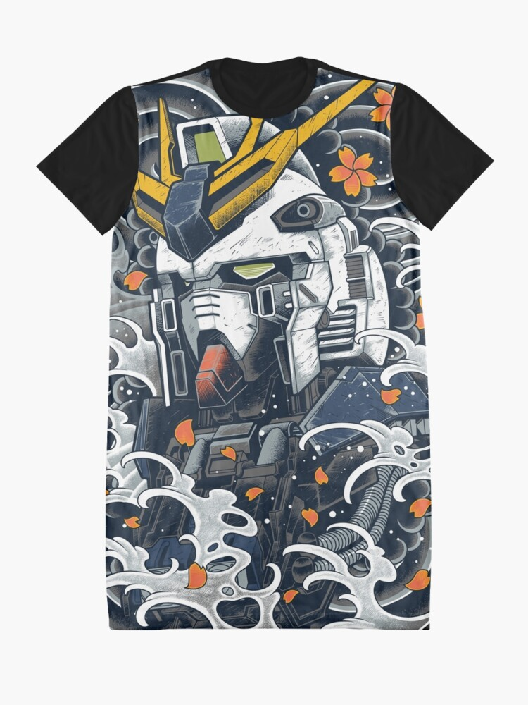 Alternate view of Nu Gundam Awesome Graphic T-Shirt Dress