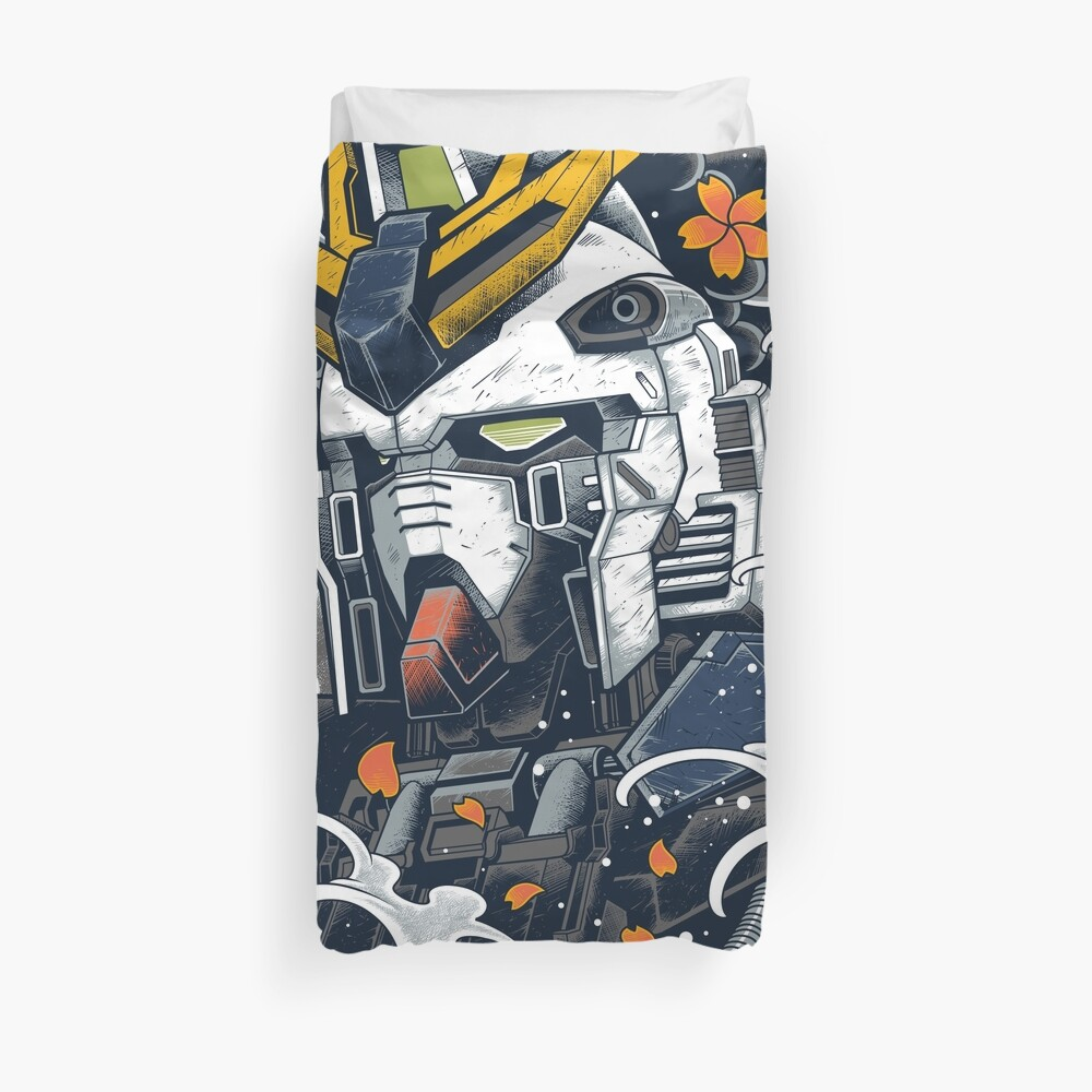 Nu Gundam Awesome Duvet Cover