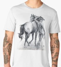 """Rawhide"" by Maxime Xavier Men's Premium T-Shirt"