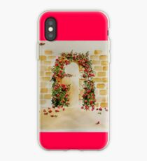 Arch with bougainvillea.  iPhone Case
