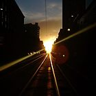 Sunsets - At The End of the City Valleys by Anthony Ogle