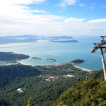 View from Langkawi Mountain Cable Car Platform Malaysia by HotHibiscus