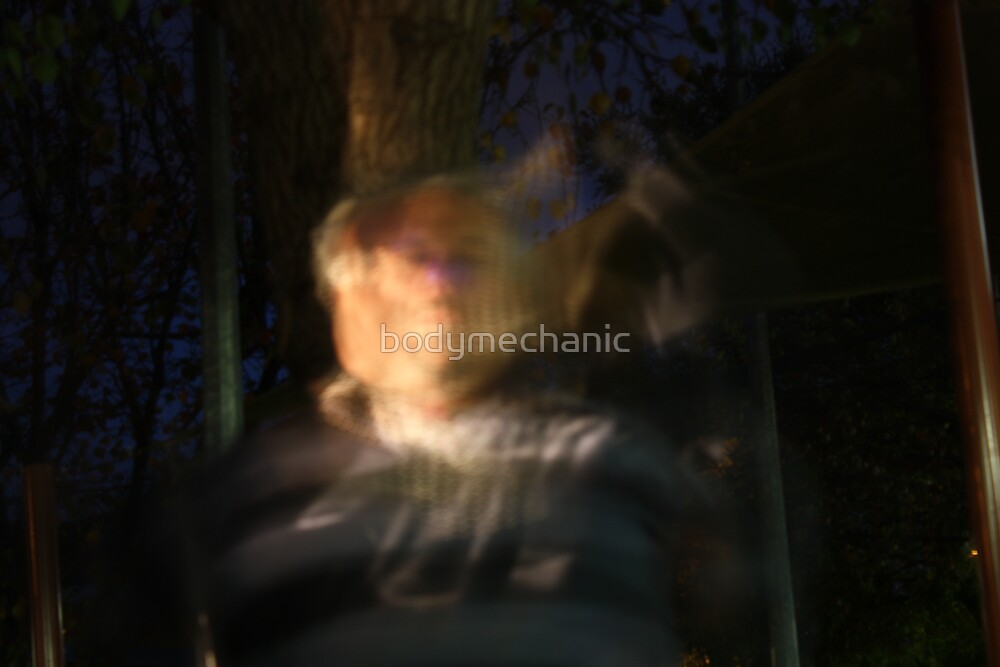 painting with light 3-self portrait by bodymechanic