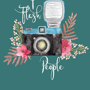 I Flash People Funny Photographer Gifts Vintage Camera Photography by HappyEdenCo