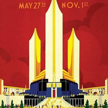 Chicago World's Fair 1933 Classic Vintage Poster by gshapley
