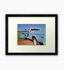 Truck Blocks Framed Print