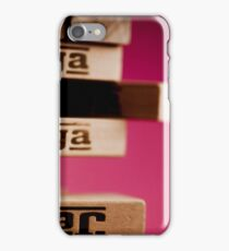 Jenga tower iPhone Case/Skin